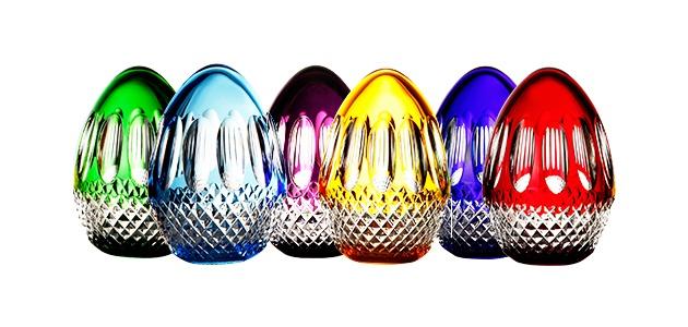 水晶彩蛋组合装饰物