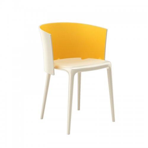 (预售)Jono Pek橙白现代椅